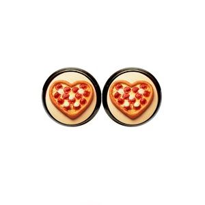 Pizza Heart Earrings